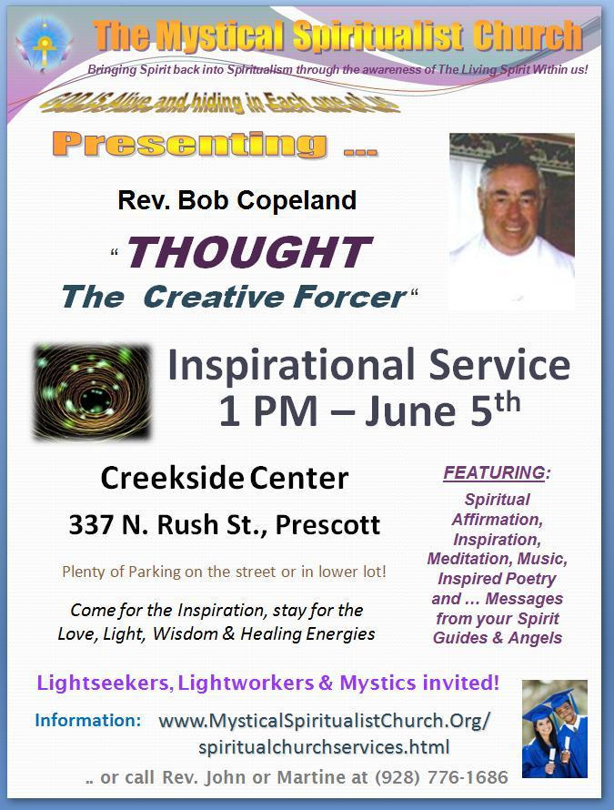 Learn from Spiritualist Church guest speaker, Bob Copeland