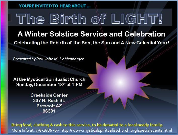 The Birth of Light: The Son, tyhe Sun and New Year 2012!