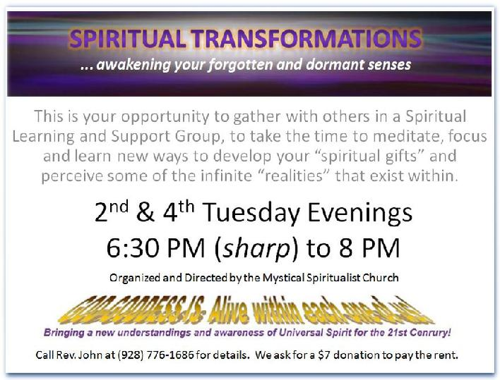 Experience a Spiritual Development Circle in Prescott Valley